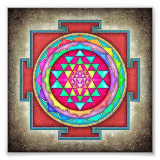 Sri Yantra - Artwork VII-VI Impression Photo