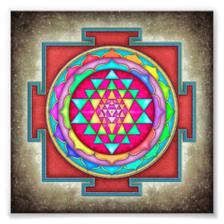 Sri Yantra - Artwork VII-VI Impressions Photo