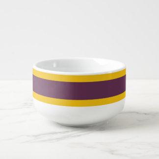 Sripes jaune et pourpre mug à soupe