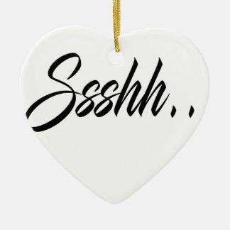 Ssshh fait sur commande ..... ornement cœur en céramique