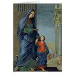St Anne menant la Vierge au temple Carte De Vœux