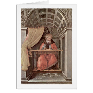 St Augustine dans l'examen par Sandro Botticelli Cartes