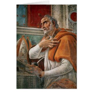 St Augustine en sa cellule, c.1480 Cartes