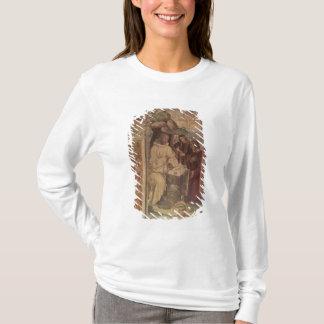 St Benoît contre un paysage, de la vie o T-shirt
