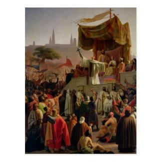 St Bernard prêchant la deuxième croisade Carte Postale