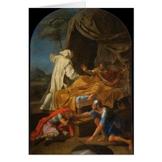 St Bruno d'Eustache Le Sueur- apparaissant à Comte Carte De Vœux