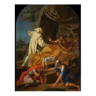 St Bruno d'Eustache Le Sueur- apparaissant à Comte Carte Postale