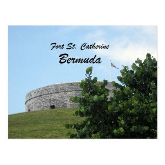 St Catherine Bermudes de fort Carte Postale