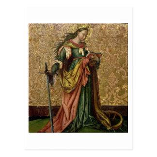 St Catherine de l'Alexandrie (huile sur le panneau Carte Postale