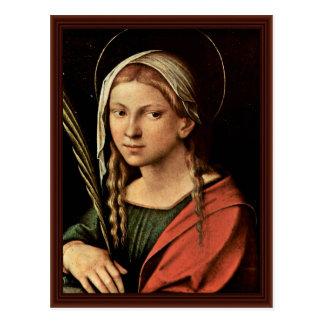 St Catherine de l'Alexandrie par Correggio Cartes Postales