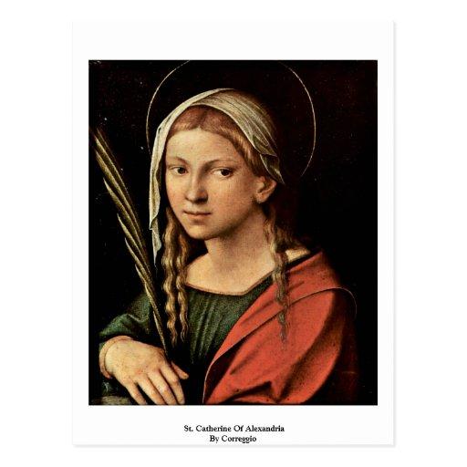 St Catherine de l'Alexandrie par Correggio Carte Postale