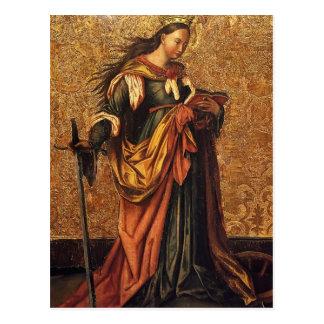 St Catherine de l'Alexandrie par Konrad Witz Cartes Postales