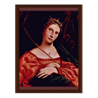 St Catherine de l'Alexandrie par le loto Lorenzo ( Cartes Postales