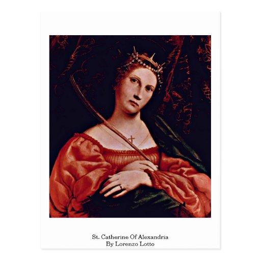 St Catherine de l'Alexandrie par Lorenzo Lotto Cartes Postales