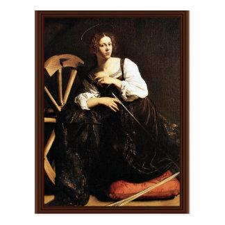 St Catherine de l'Alexandrie par Michaël Angelo Me Carte Postale