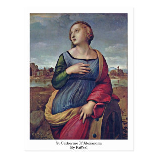 St Catherine de l'Alexandrie par Raffael Carte Postale
