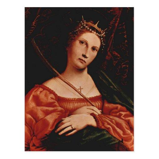 St Catherine de Loto de Lorenzo de l'Alexandrie Carte Postale