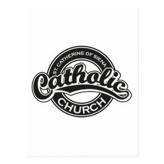 St Catherine de noir d'église catholique de Sienna Carte Postale