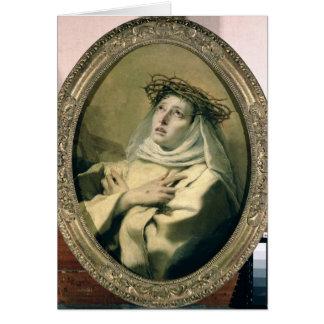 St Catherine de Sienne, c.1746 Carte De Vœux