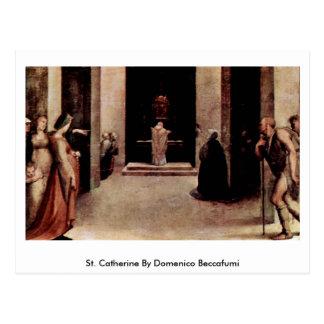 St Catherine par Domenico Beccafumi Carte Postale