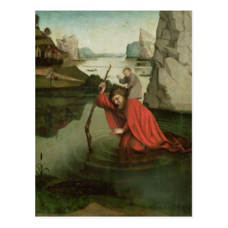 St Christopher portant l'enfant du Christ Cartes Postales