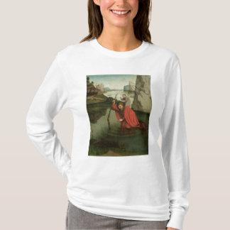 St Christopher portant l'enfant du Christ T-shirt