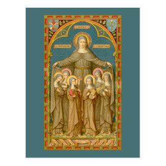 St Clare d'Assisi et de la carte postale 4 des