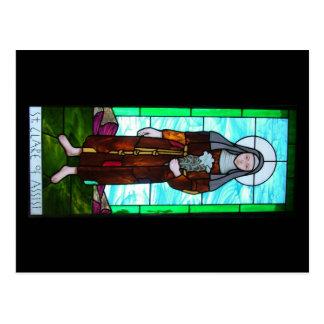 St Clare de carte postale d'Assisi