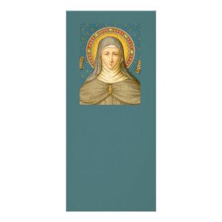 St Clare de la carte vierge 2 de support d'Assisi