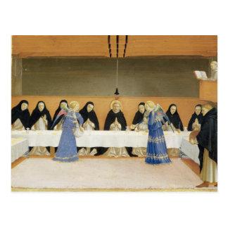 St Dominic et ses compagnons Fed par des anges Carte Postale