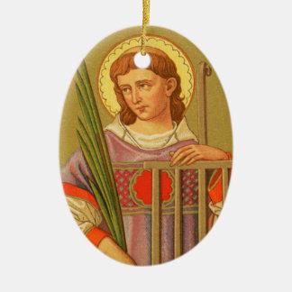 St double face Lawrence de Rome (P.M. 04a) Ornement Ovale En Céramique
