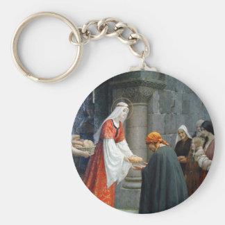 St Elizabeth de la Hongrie alimente les pauvres Porte-clé Rond