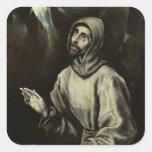 St Francis d'Assisi Sticker Carré