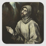 St Francis d'Assisi Stickers Carrés