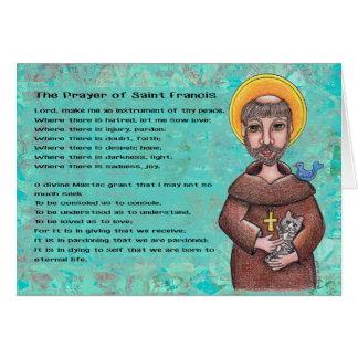 St Francis de carte pour notes d'Assisi