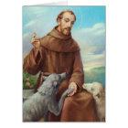 St Francis de la carte de voeux d'Assisi w/prayer