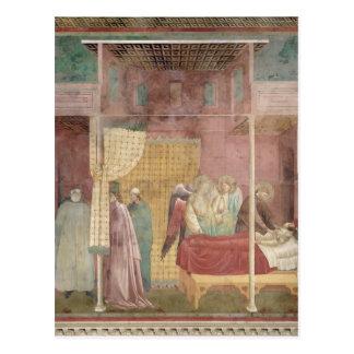 St Francis guérit l'homme blessé de Lerida Carte Postale