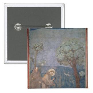 St Francis prêchant aux oiseaux, 1297-99 Badge Carré 5 Cm