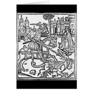 St George contre le dragon Carte De Vœux
