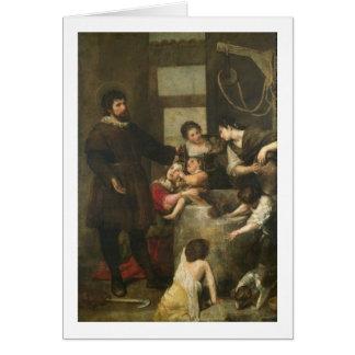 St Isidore sauve un enfant qui était tombé dans un Cartes