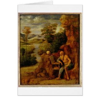 St Jerome, c.1500 (huile sur le panneau) Carte De Vœux