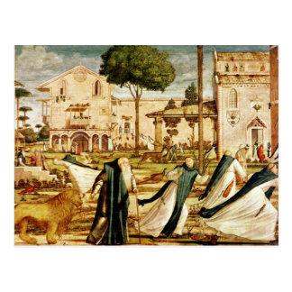 St Jerome et lion dans le monastère, 1501-09 Carte Postale