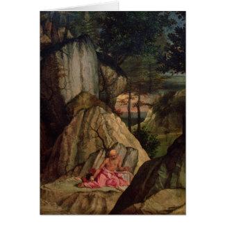 St Jerome méditant dans le désert, 1506 Carte De Vœux