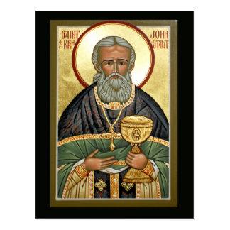 St John de carte de prière de Kronstadt Cartes Postales