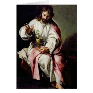 St John l'évangéliste et la tasse empoisonnée Cartes
