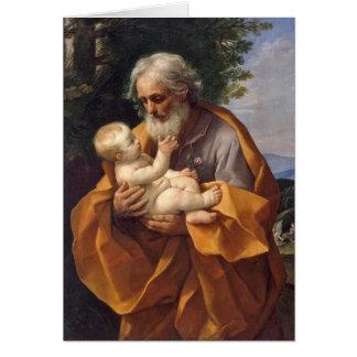 St Joseph avec le nourrisson I Carte De Vœux