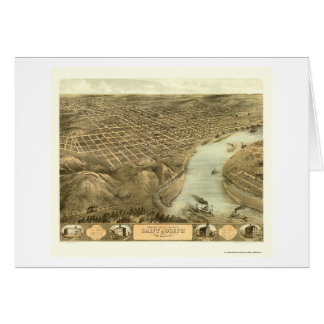 St Joseph, carte panoramique de MOIS - 1868