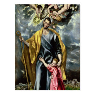 St Joseph et l'enfant du Christ, 1597-99 Cartes Postales