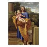 St Joseph portant Jésus infantile, 1665 Cartes De Vœux
