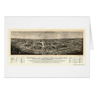St Louis, carte panoramique de l'Exposition